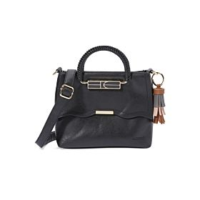 Arcad Unique Accent Shoulder Bag Black 33287