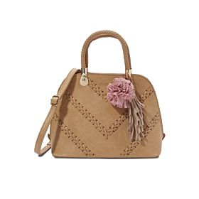 Arcad Unique Accent Shoulder Bag Brown 33279