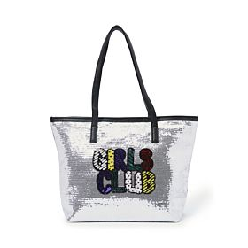 Arcad Unique Accent Tote Bag Silver 33602