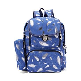 Arcad Zipper Closure Backpack With Pencil Pouch Blue 33082
