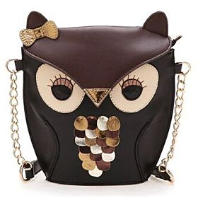 Synthetic Bag For Women , Black - Crossbody Bag