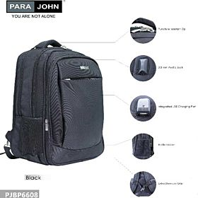 Parajohn PJBP6608 Smartpack,with mobilecharger & Audiojack Black