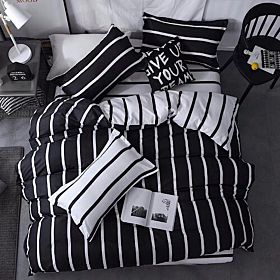 Deals for less Single Size Duvet Cover Set of 4 pieces , Stripe Design