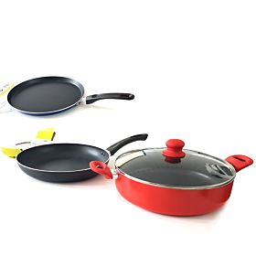 3 in 1 Combo Beefit High Quality Sauce Pan, Non-Stick Fry Pan 30cm, Non-Stick Pizza Pan 24cm
