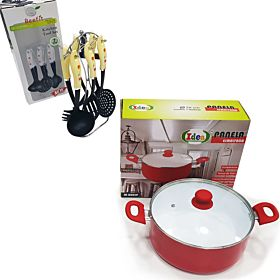 Beefit 7 PCs Kitchen Tool set + 28 cm Casserole