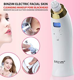 BINZIM Electric Facial Skin Cleansing Makeup Pore Blackhead Remover Vacuum Suction Diamond Dermabrasion Microdermabrasion Kit
