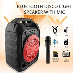 Bluetooth Disco Light Speaker with USB FM & AUX with Mic - B30