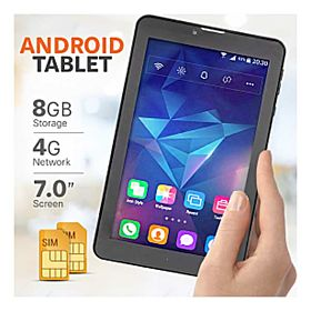 BSNL A15, Tablet 7 inch, Android 5.1, 8GB, Quad Core, 4G LTE, Dual Camera, Black