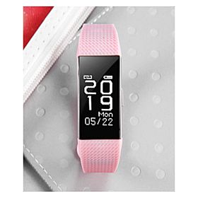 BSNL F2 Cubes Smart Band With Activity & Heart Rate Measurement, Waterproof,Pink
