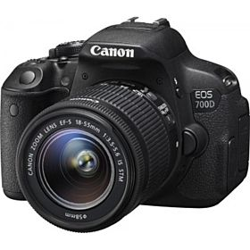 Canon EOS 700D 18-55mm IS STM Lens Kit (18 Megapixels, DSLR Camera, Full HD Movie, Black)
