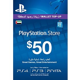 Sony PlayStation Network Card - 50 Dollar, UAE Account