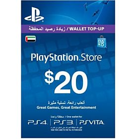 Sony PlayStation Network Card - 20 Dollar, UAE Account
