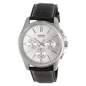 Casio for Men Chronograph MTP-1375L-7AVDF Leather Watch