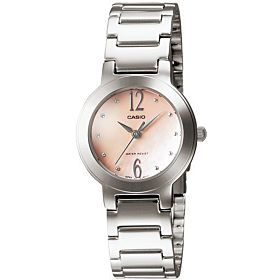 Casio Ladies Peach Mother of Pearl Watch [LTP-1191A-4A2]