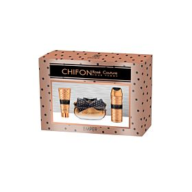 Emper Women's Perfume Set Floral Chifon Rose Couture Perfume Body Spray & Lotion Gift Set