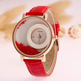 CHOCHO Casual Watch For Girls Analog Leather - M1121B