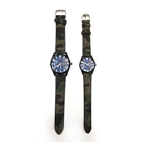 Camouflage Couple Watch Green