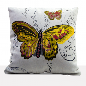 Cushion Cover Modern butterfly print (45x45)