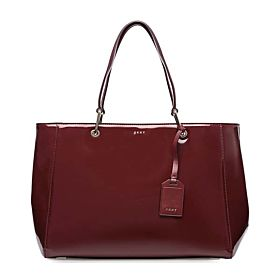 DKNY Patent Tote Bag for Women - Leather, Lacquer