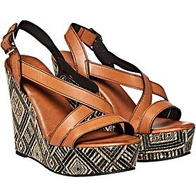 Dolcis Wedge Sandals for Women - Tan