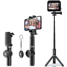 Bluetooth Selfie Stick, MaXCIO 2 in 1 Extendable Mini Pocket Selfie Stick Tripod with Wireless Remote for iPhone ,Galaxy, iOS & android Smart phones