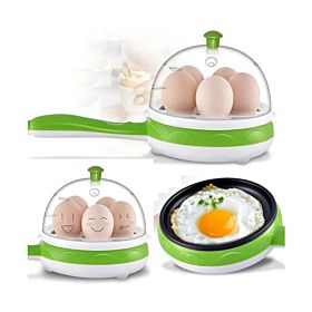Olympia 7 Pcs Egg Boiler Multi Functional Magic Pot, OE-621 Green