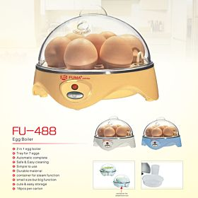 2 in 1 EGG Boiler | Tray for 7 eggs, Automatic Complete