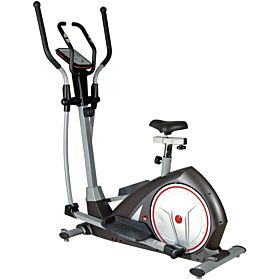 Elliptical Bike and Upright Exercise Bike 2 in 1 Cardio Dual Trainer with Heart Rate Exercise Machine