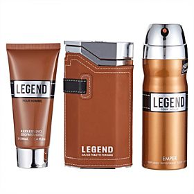 Emper Bath and Body Gift Set Legend - Perfume, Deodorant, Cream
