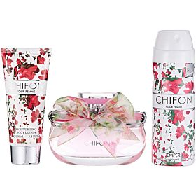 EMPER CHIFON WOMEN (3PC GIFT SET) EDP 100ML + 100ML B/LTN + 200ML DEO