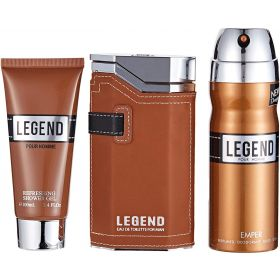 EMPER LEGEND 3 PCS SET EDP100+ 100ML S/GEL+200ML DEO