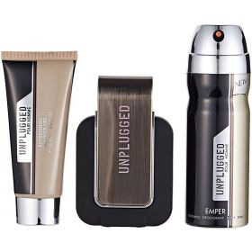 EMPER UNPLUGGED MEN  3 PCS SET EDP100+ 100ML S/GEL+200ML DEO