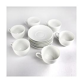 Epsilon Porcelain 6/6 Tea Cup & Saucer Set, EN4216
