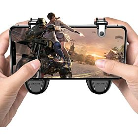 Mobile Game Controller Triggers Joysticks - Cellphone Game Trigger, Ergonomic Design Handle Holder Handgrip Stand for 5.3-6.5 inch for android & iOS Phones for PUBG Fortnite ect وحدات تحكم مصغرة