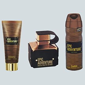 Epic Adventure for Men by Emper Gift Set - 3 Pieces