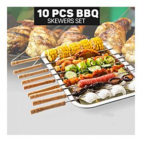 Epsilon 10 Pcs Barbecue Skewers Set, EN3727