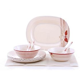 Epsilon 10 Pieces Melamine Ware Dinner Set, EN-3647