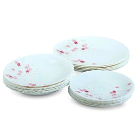 Epsilon EN3654 18 Pieces Opal Dinner Set - White