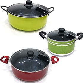 Epsilon High Quality Sauce Pan Sets (30cm, 26cm, 22cm)