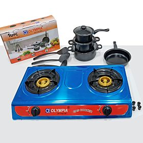 Gas Stove + 10 Pcs Nonstick Cookware Set