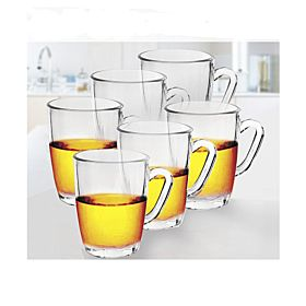 Qianli Glass Cup with Handle 6 Pcs Set, EN3971