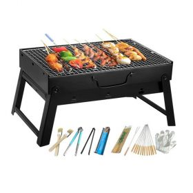 21-Piece Portable Charcoal Barbecue Grill Set 35centimeter