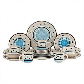 Harmony Stoneware Dinner Set - 20 Pieces