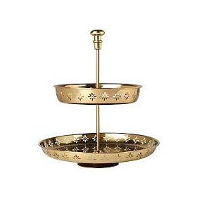 HEMMAFEST Serving Stand, two tiers, Gold