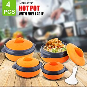 4 PCs Insulated Hot Pot with Free Ladle
