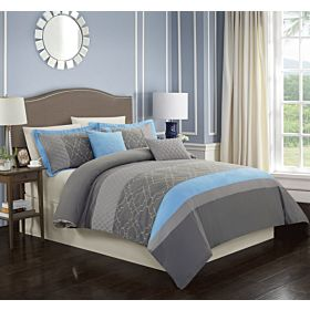 Carolin home linen 8 pcs comforter sets  Model: Illusion-02