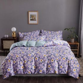 DEALS FOR LESS - Queen/Double Size, Duvet Cover, Bed Sheet Set of 6 Pieces, Daisies Design, 1 Duvet cover + 1 bedsheet + 4 pillow covers.