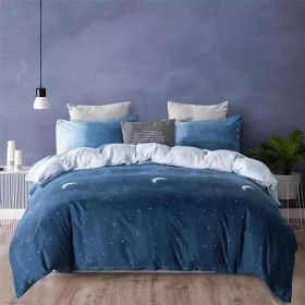 DEALS FOR LESS - Queen/Double Size, Duvet Cover, Bedding Set of 6 Pieces, Ombre Design, 1 Duvet cover + 1 bedsheet + 4 pillow covers.