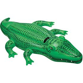 Intex Giant Gator Ride-on Floating Raft, Green [58562]