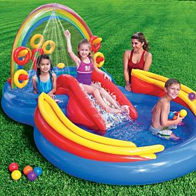 INTEX Inflatable Kids Rainbow Ring Water Play  - 57453